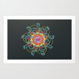 Loop Kisses Art Print