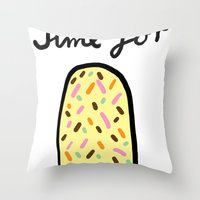 popsicle Throw Pillows featuring Popsicle by Ena Jurov