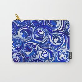 China Blue Paint Swirls Carry-All Pouch