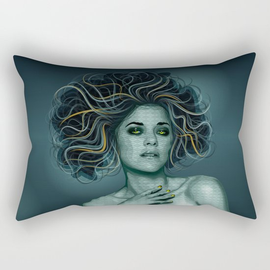Gorgon Medusa Rectangular Pillow