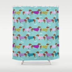 Cute Shower Curtains dachshund shower curtains   society6
