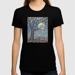 northern saw whet owls under the stars T-shirt