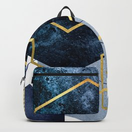 Geometric Compilation in Blue Backpack