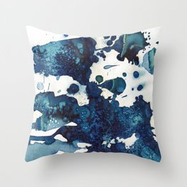 Cloudy skies and a few drops of rain. Throw Pillow
