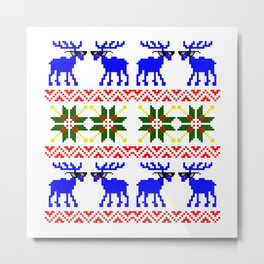 Ugly Sweater ( Deal With It ) Metal Print