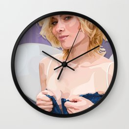 the feisty faerie dares you to look away Wall Clock