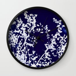 Autumn Blues Wall Clock