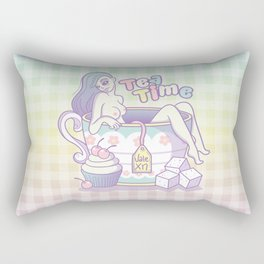Tea Time Rectangular Pillow