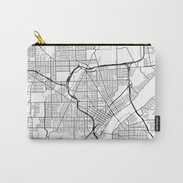 Toledo Map, USA - Black and White Carry-All Pouch
