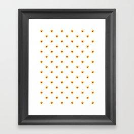 Cute little hearts Framed Art Print