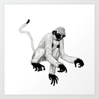 ape Art Prints featuring ape by rectify