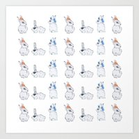 Punk Bunnies Art Print