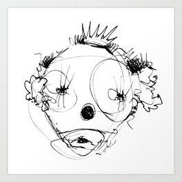 Clowns in Crowns #4 Art Print