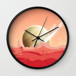 Life on the Titan Wall Clock