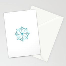 AQUA BLUE SNOWFLAKE  Stationery Cards