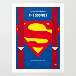 No456 My The Goonies minimal movie poster Art Print