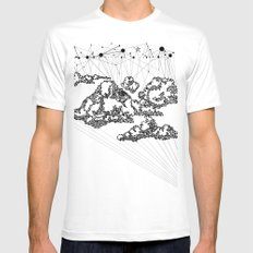 the Clouds MEDIUM Mens Fitted Tee White