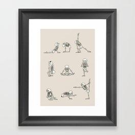 Skeleton Yoga Framed Art Print