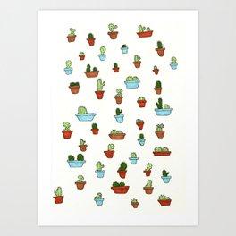 Cacti Print Art Print