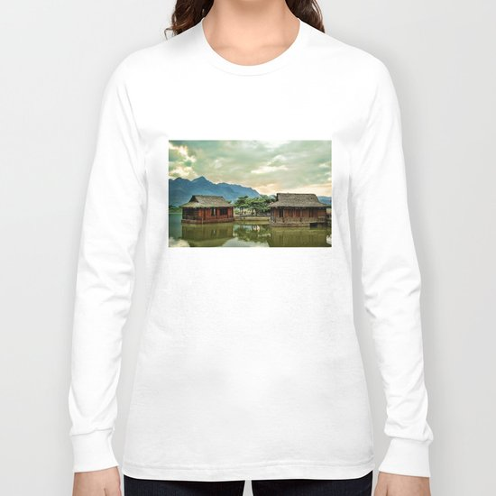 Water Huts Long Sleeve T-shirt