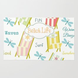 Ocean Way Pacific - Beach Life - tangerine Rug