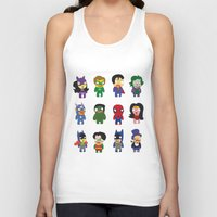 superheroes Tank Tops featuring superheroes by Manola  Argento
