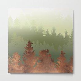 Treescape Green Metal Print