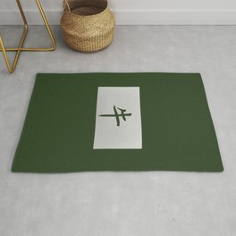 Chinese zodiac sign Ox green Rug