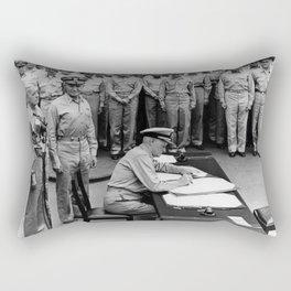 Admiral Nimitz Signing The Japanese Surrender Rectangular Pillow