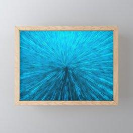 Bursting Blue Energy Framed Mini Art Print