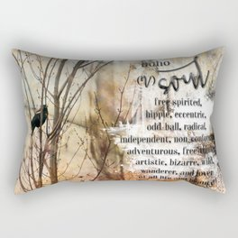 Boho Soul Blackbird Rectangular Pillow
