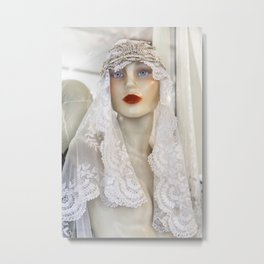 Bridal Mannequin Metal Print