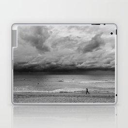 Jogger on Beach Laptop & iPad Skin