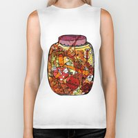 vegetables Biker Tanks featuring Preserved vegetables by ChiLi_biRó