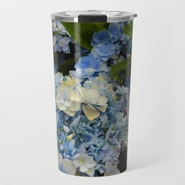 Blue Hydrangeas Travel Mug