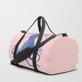 Blue Octopus and Butterfly Duffle Bag