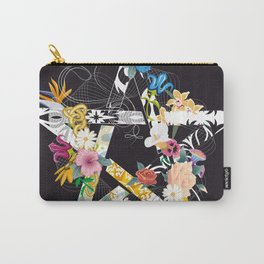 Pentagram with flowers Carry-All Pouch