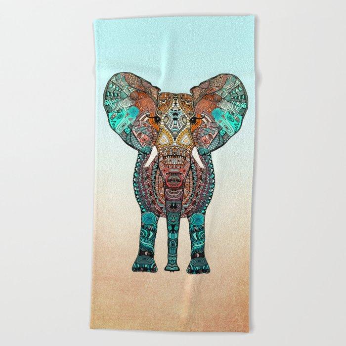 BOHO SUMMER ELEPHANT Beach Towel