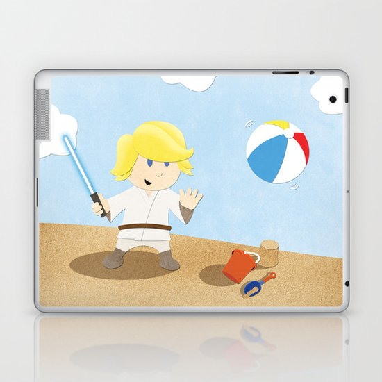 SW Kids - Luke at the Beach Laptop & iPad Skin