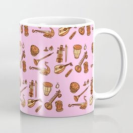 Music Instruments Pattern Traditional Musicians Coffee Mug