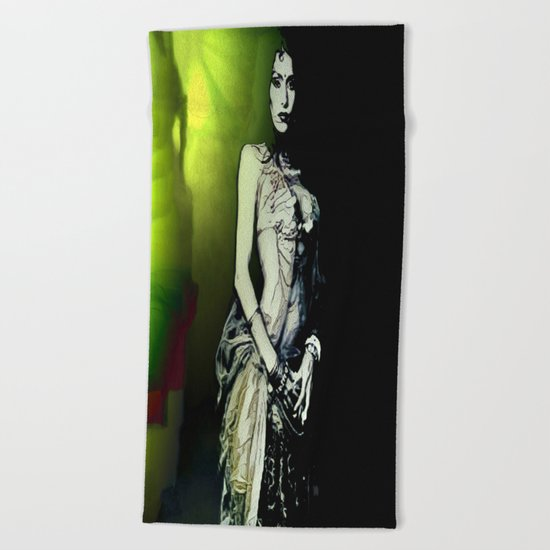 Esmerelda: Stepping Out Of The Nightmare Realm Beach Towel