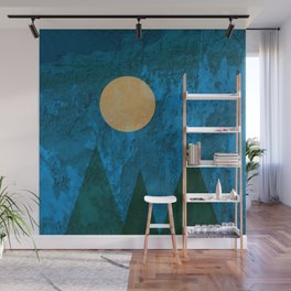 Ancestral, Abstract Landscape Mountains Wall Mural