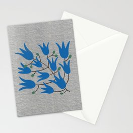 Blue Bell – Scandinavian folk art - Blue Bell Floral Stationery Cards