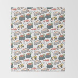 Sushi Cats Throw Blanket
