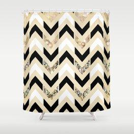 black and white chevron shower curtain. Black  White Gold Glitter Herringbone Chevron on Nude Cream Shower Curtain Curtains Society6