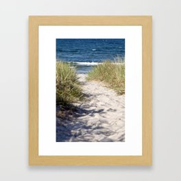Sand Dune of Island Ruegen Framed Art Print