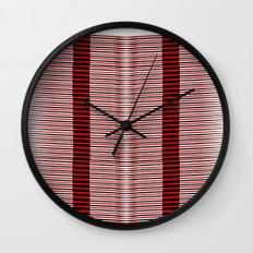 Black and red lines background Wall Clock