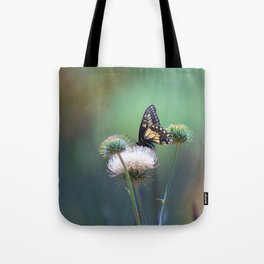 Butterfly Thistle Tote Bag