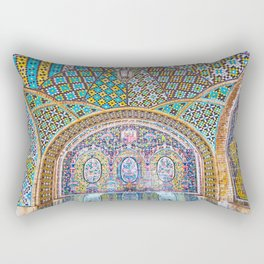 Karim Khani Nook of Golestan in Tehran, Iran Rectangular Pillow