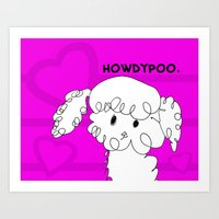 HowdyPoo! Poodle Pup Love - Art by Child Art Print